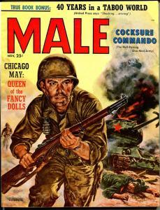 Male 11/1957-Atlas-Korean War-crime-spicy pulp exploitation-NM