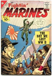 FIGHTIN' MARINES #46 PARACHUTE COVER JAPS  WW II ISSUE FN