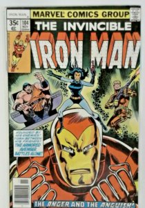 Invincible Iron Man 104 - Bronze Age Classic - 1977 High Grade VF Sharp Comic
