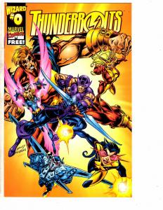 Lot O 4 Marvel Comic Books Onslaught 1 Gambit 2 Thunderbolts 0 Excalibur 73 J208