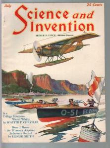 Science & Invention 7/1929-Gernsback-Boat race-radio seance-Dunninger-VF