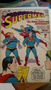 Superman #115 (DC,Aug 1957) Condition VG