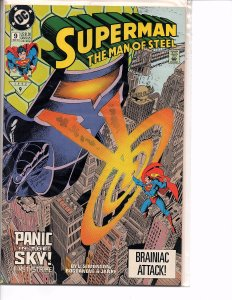 DC Horse Comics (1991) Superman The Man of Steel #9 Panic in the Sky!