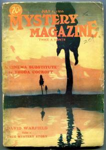 Mystery Magazine Pulp July 1 1926- Thoda Cocroft- David Warfield F/G