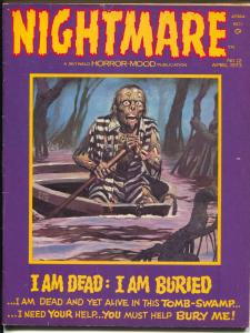 Nightmare #12 1973 Skywald-vampires-decapitation-violence-zombie-VG