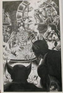 NEWTON BURCHAM original published art PIRATE QUEEN Splash page 20, 11x17&q