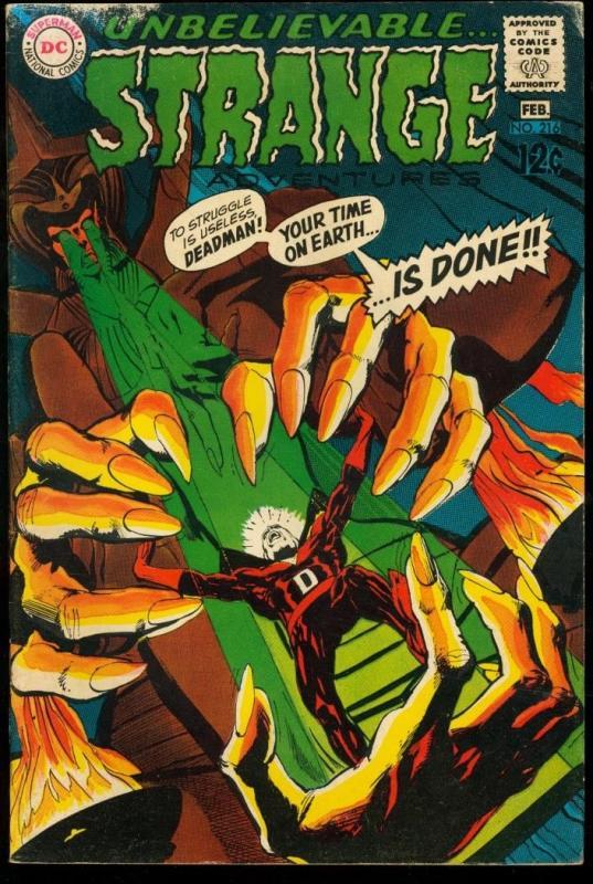STRANGE ADVENTURES #216-NEAL ADAMS ART VG