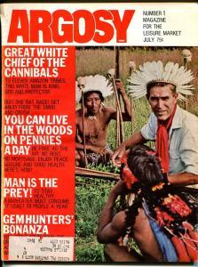 Argosy 7/1971-Popular-White Cannibal Chief-exploitation-pulp fiction-VG