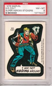 1976 Marvel Kid Colt Sticker PSA 8 (NM-MT)