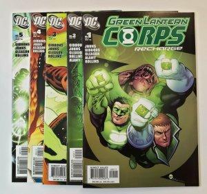 Green Lantern Corps Recharge #1-5 Complete Set DC Comics 2005 VF/NM