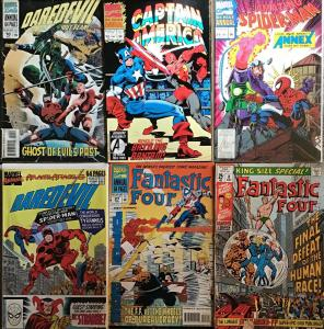 MARVEL ANNUALS 6 BOOK LOT.DAREDEVIL,AM.SPIDER-MAN,CAP.AMERICA,FANTASTIC 4
