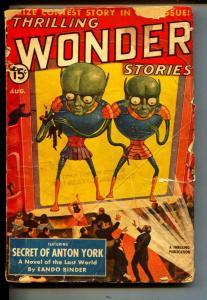 Thrilling Wonder Stories-Pulp-8/1940-Henry Kuttner-Ray Cumming