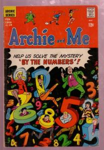 ARCHIE AND ME #19 1968-BETTY & VERONICA-UNIQUE NUMBERS VG