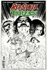 Red Sonja Tarzan #2 RI 1:10 Variant (Dynamite, 2018) NM