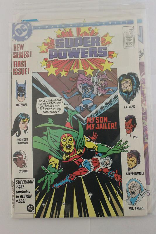 Super Powers 4 Part Mini series #1 (DC, 1986) NM