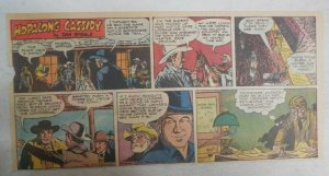 Hopalong Cassidy Sunday Page by Dan Spiegle from 1/9/1955 Size: 7.5 x 15 inches