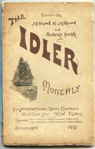THE IDLER-NOV 1893-EARLY PULP FORMAT MAGAZINE-PHANTOM DEATH-RARE-MYSTERY