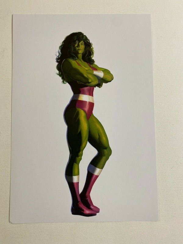 She-Hulk Marvel Comics poster by Alex Ross