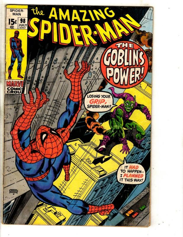 Amazing Spider-Man # 98 VG/FN Marvel Comic Book Goblin Vulture Avengers CR56B