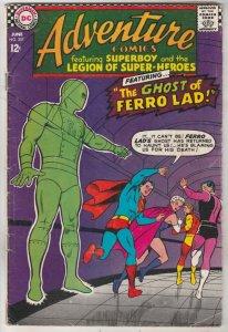 Adventure Comics #357 (Jun-67) VG Affordable-Grade Legion of Super-Heroes, Su...