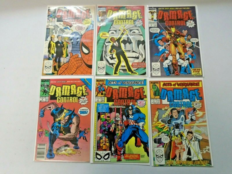 Damage Control Marvel ALL 3 SETS 12 Different Books 8.0 VF (1989-1991)