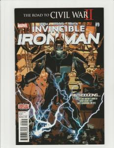 Invincible Iron Man #9 (Marvel 2016) 1st Full App of Riri Williams 1st Print