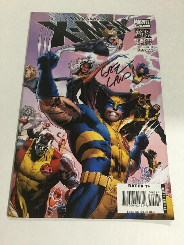 Uncanny X-Men 500 Signed By Greg Land Nm Near Mint Marvel