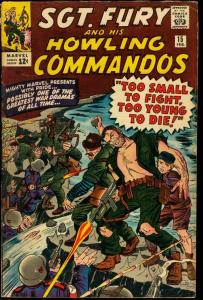 SGT. FURY AND HIS HOWLING COMMANDOS #15-KIRBY COVER VG