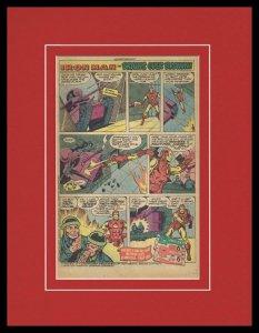 1979 Iron Man Hostess Fruit Pies Framed 11x14 ORIGINAL Vintage Advertisement