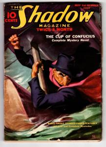 SHADOW 1937 May 1 -HIGH GRADE- STREET AND SMITH-RARE PULP FN