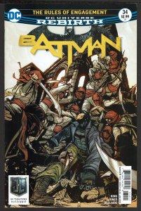 Batman #34 Rebirth (Jan 2018, DC) 0 9.0 VF/NM