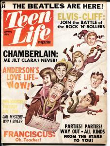 Teen Life 4/1964-Publication House-Beatles-Elvis pin-up-Cliff Richard