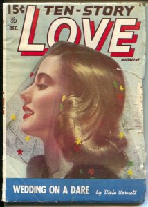 Ten-Story Love 12/1950-pin-up girl cover-female pulp fiction authors-G/VG