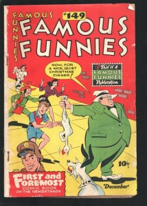 Famous Funnies #149 1946-Buck Rogers-Scorchy Smith-Steve Roper-Dickie Dare-VG