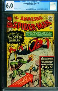 AMAZING SPIDER-MAN #14 CGC 6.0 comic book-First GREEN GOBLIN 0158314004