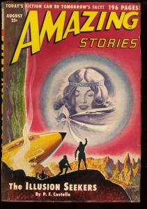 AMAZING STORIES 1950 AUG-RARE SCIENCE FICTION PULP-fine FN