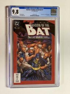 batman shadow of the bat 1 cgc 9.8 wp dc comics 1st zzazz