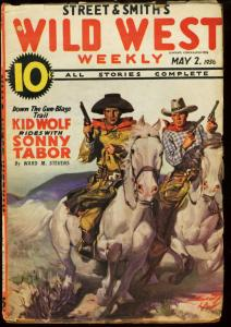 WILD WEST WEEKLY MAY 2 1936 SONNY TABOR KID WOLF TEAMUP VG