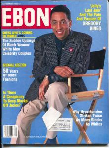 Ebony 9/1992-Gregory Hines-Black Women/White Men Celebrity Couples-FN