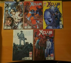 X-Club 1-5 Complete Set Run! ~ NEAR MINT NM ~ 2012 Marvel Comics