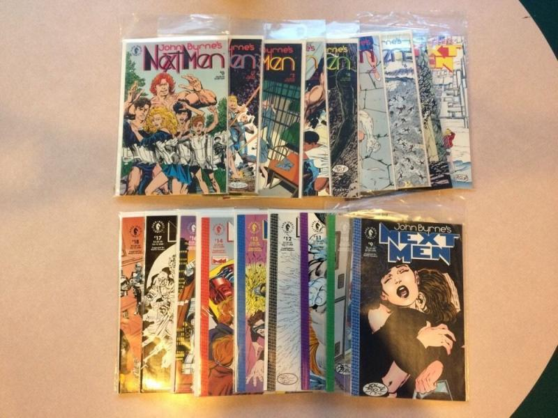 John Byrnes Nextmen 18 Book Lot 0 1 2 3 4 5 6 7 8 9 10