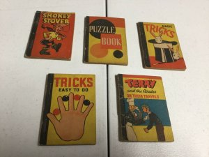 Cracker Jacks Little Books 5 Book Lot 1938 Smokey Stover Terry And The Pirates