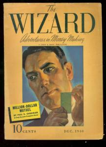 THE WIZARD PULP DEC 1940 STREET SMITH CASH GORMAN VG-