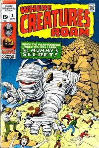 Where Creatures Roam #8 VG; Marvel | low grade comic - save on shipping - detail