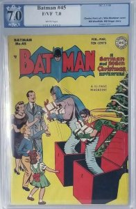 Batman #45~1948 DC~PGX 7.0 (FN/VF)~The Lady Rouges/A Parole for Christmas