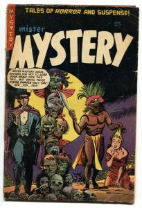 MISTER MYSTERY #17 PCH pre-code horror SEVERED HEADS--DECAPITATION