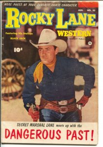 Rocky Lane Western #55-1954- B-Western movie star photo cover-final Fawcett issu