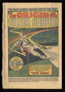 Silver Surfer #1 Coverless Marvel Comics
