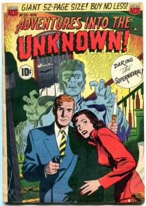 ADVENTURES INTO THE UNKNOWN #25-WERE-TIGER - VAMPIRES FN-