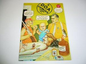 D.O.A. Comics #1 VF (1st) underground comix JIM OSBORNE saving grace DOA